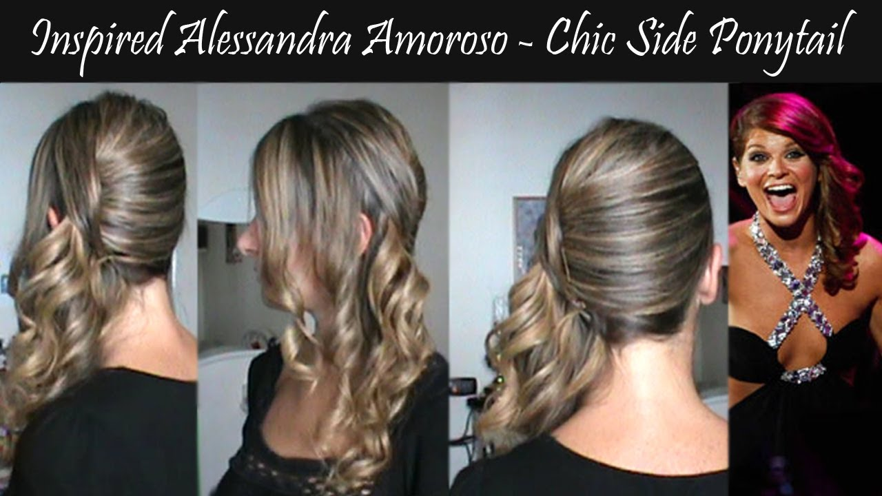 Populaire Inspired Alessandra Amoroso concerto Verona - chic side ponytail  AC49
