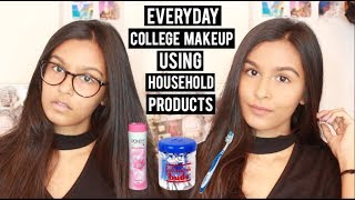 Everyday Basic Makeup for Beginners | Using Household Products | Under 5 Minutes