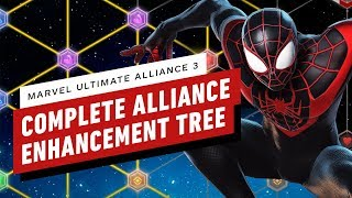 Marvel Ultimate Alliance 3: Complete Alliance Enhancement Power-Up Tree