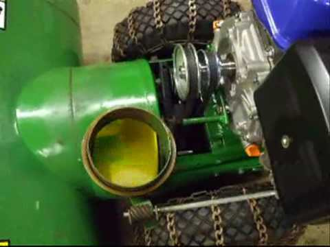 John Deere 1032 Snowblower Repair & Modification Video Part #8 ...