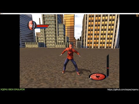 XQEMU Xbox Emulator - Spider-Man Ingame! (ef0b644 / Xbox-2.x-rebase)
