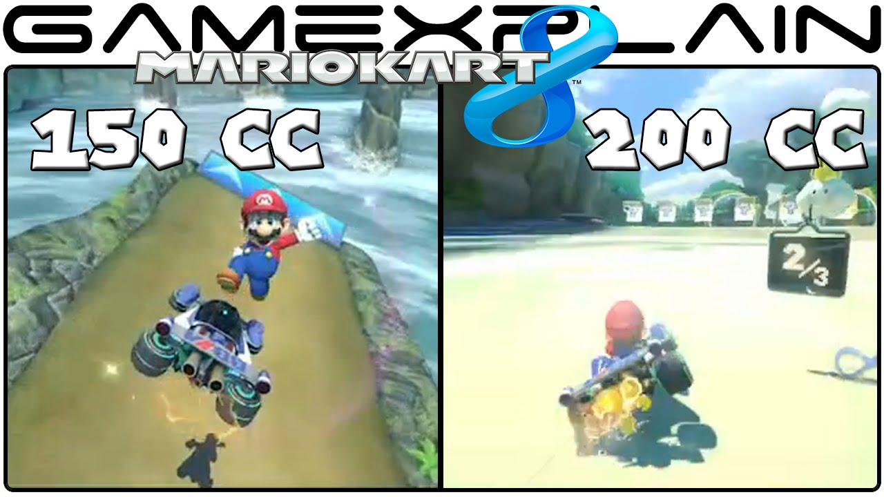 Mario Kart 8 200cc Vs 150cc Head To Head Comparison Youtube