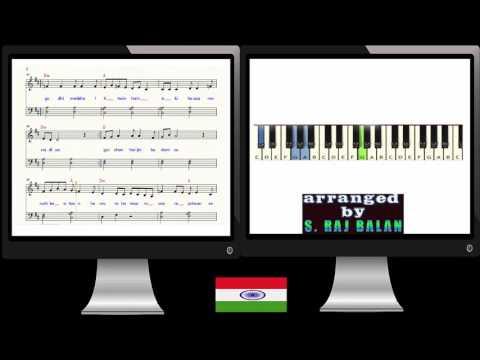 PIANO NOTES SHEET MUSIC FOR SAARE JAHAAN SE ACHHA BY S RAJ BALAN