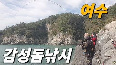 [빡꾼] 여수 돌산도 초소밑 감성돔낚시!! real comic!!