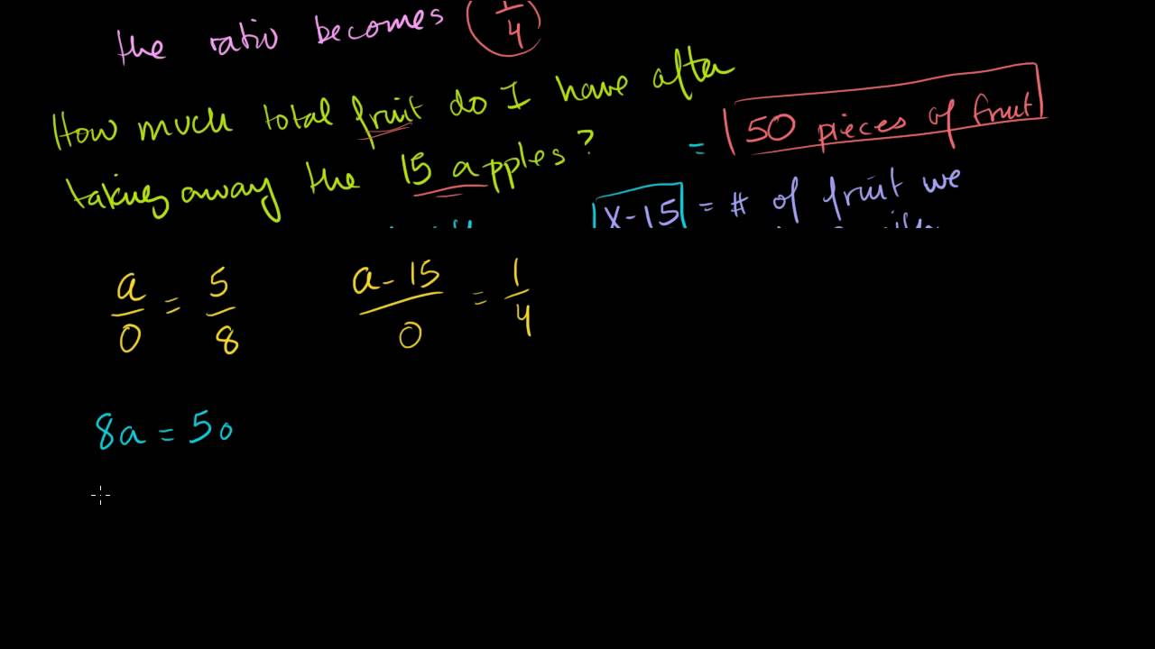 how to work out ratio problems