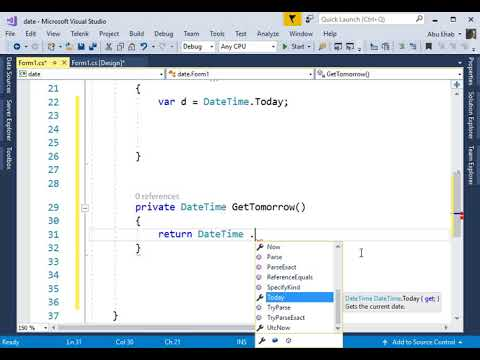 DateTime Get Today Tomorrow And Yesterday In C#