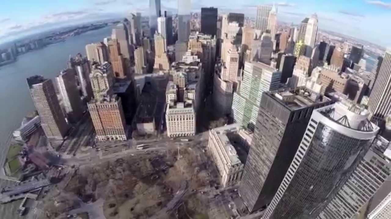 en new york battery park con vista panormica y edificios gigantes youtube