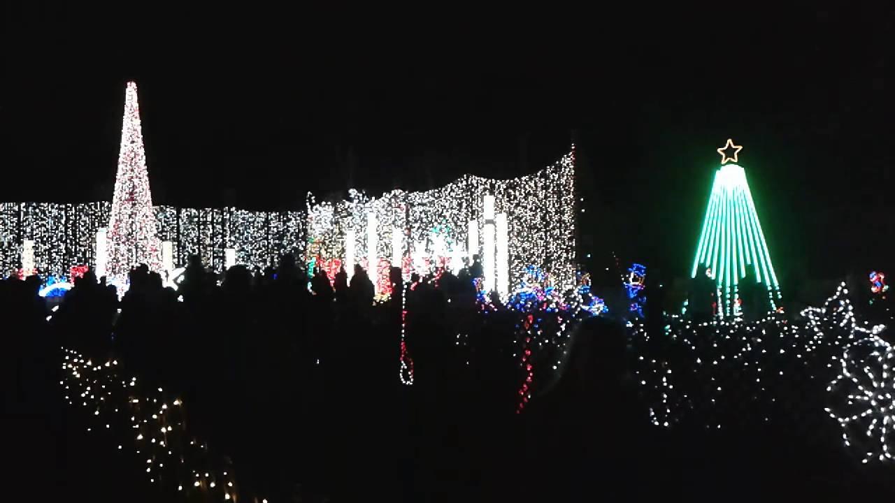 Plantation Baptist Church Christmas Light Display - YouTube