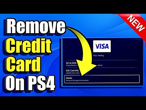 How to Remove A Credit Card On PS4 (Easy Method)