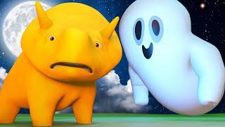 Lerne mit Dino - Halloween Spezial Folge - Halloween Gespenster - Lehrreiche Cartoons für Kinder  🚚