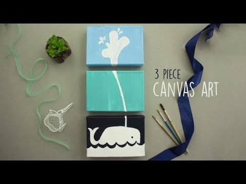 3 Piece Canvas Art | Wall Hanging Craft Ideas