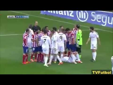real madrid vs atletico madrid fights