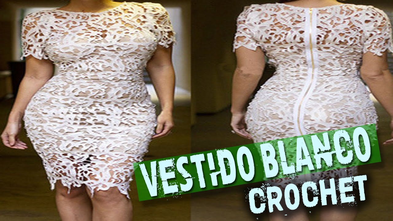 646cc85fa6 Vestidos Blancos Tejidos a Crochet - Ganchillo - YouTube