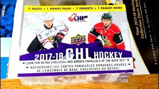 17/18 Upper Deck CHL Hockey Retail Blaster Box Break