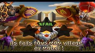 CLASH OF CLANS - LE MEILLEUR VILLAGE ANTI MOBAL ? ILS FAILS TOUS SUR MON HDV 11 !