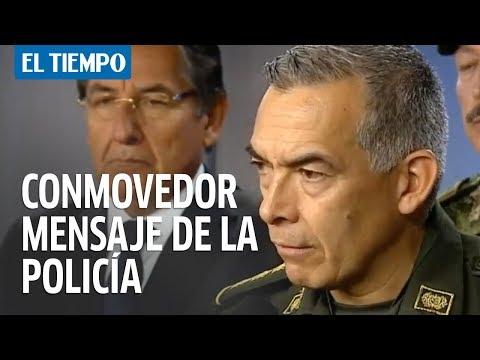 Las conmovedores palabras del comandante de la Policía tras atentado | EL TIEMPO
