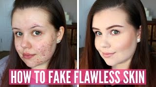 Video HOW TO FAKE FLAWLESS SKIN | In-Depth Acne Foundation Routine download MP3, MP4, WEBM, AVI, FLV April 2018