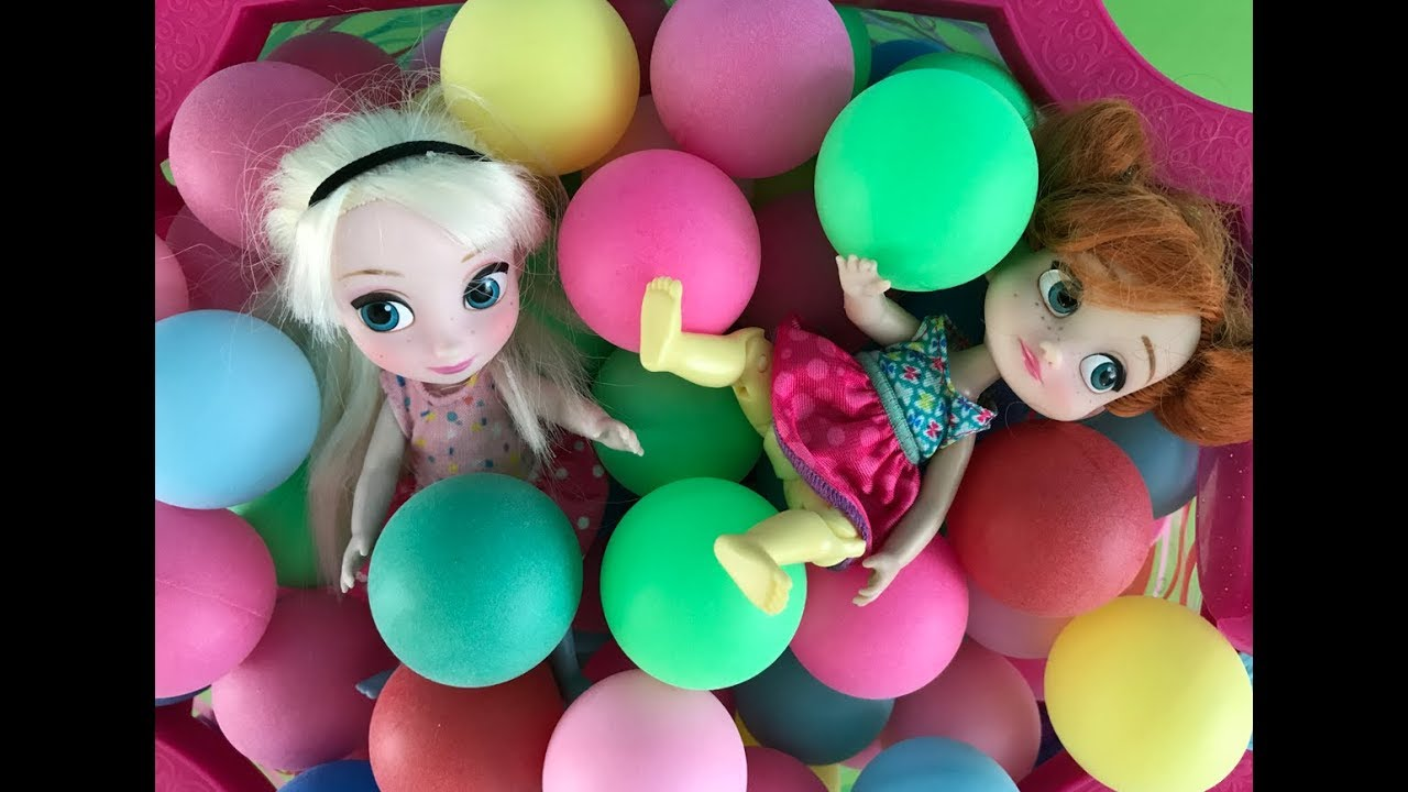 Ball Pit Elsa Anna Toddlers Play With Balls In Their Pool