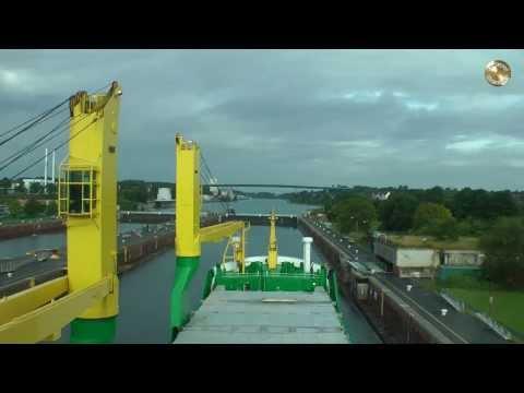 Nord Ostsee Kanal (Kiel Canal Time-Lapse-Voyage) Zeitraffer Durchfahrt FULL HD
