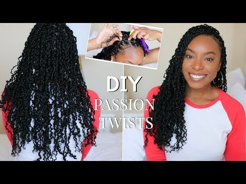 How To   EASY Passion Twists Using The Rubber Band Method   Step-By-Step Beginner Friendly Tutorial