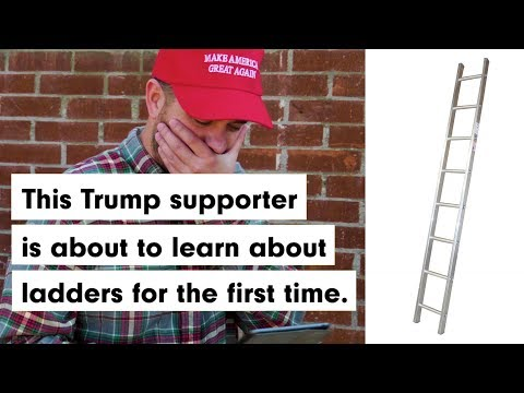 Trump supporter discovers ladders for first time