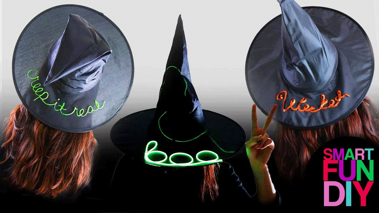 Diy dollar store witch hats 3 beach hat how to ideas do it diy dollar store witch hats 3 beach hat how to ideas do it yourself last minute halloween craft solutioingenieria Choice Image