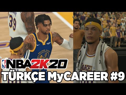 Türkçe NBA 2K20 MyCAREER #9 | WARRIORS MAÇI! COUSINS BENİ DELİRTECEK! D'LO İ