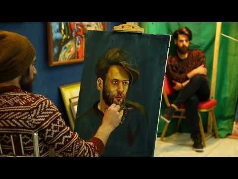 live painting portrait