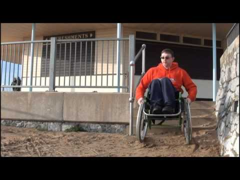 Wheelchair Going Down Steps Youtube