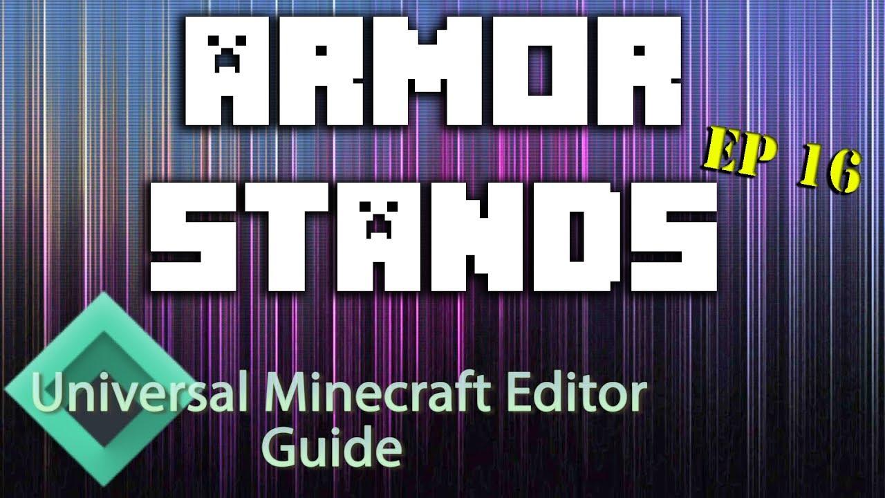 Minecraft: Modding With Universal Minecraft Editor | Ep 16 Armorstands |