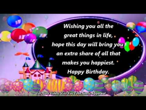 Happy Birthday Wishes,Greetings,Quotes,Sms,Saying,E-Card,Wallpapers,Music,Whatsapp Video