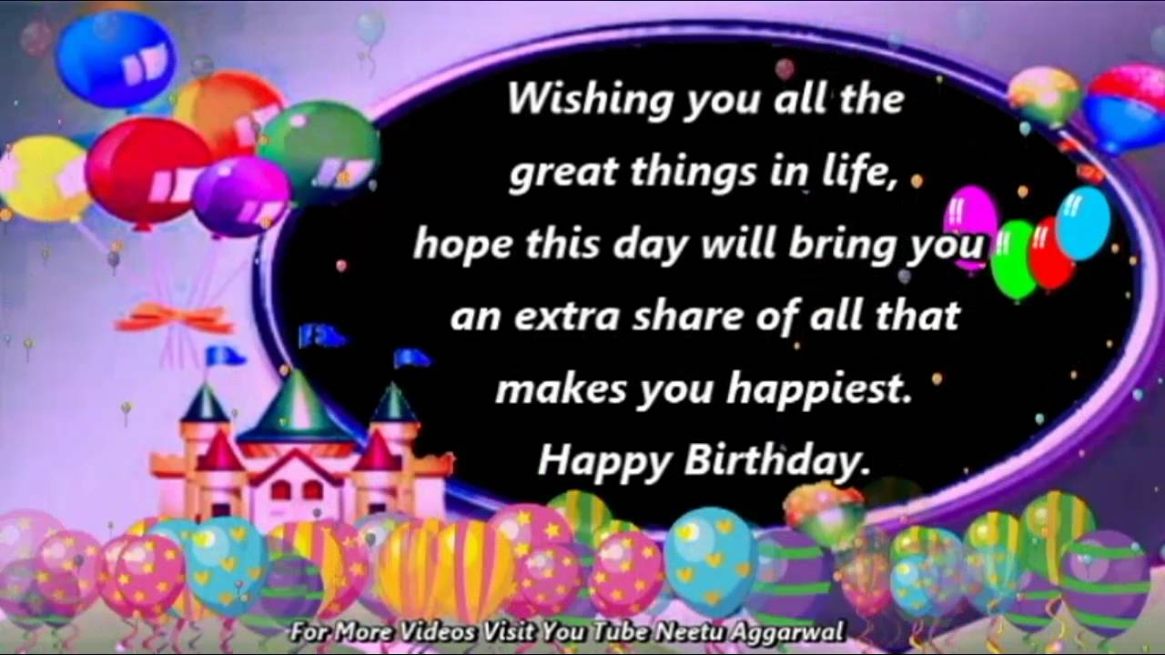 Happy Birthday WishesGreetingsQuotesSmsSayingE CardWallpapersMusicWhatsapp Video