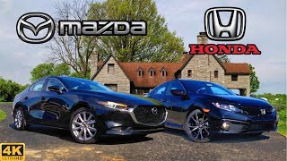 BATTLE OF THE BEST -- 2019 Mazda 3 Select vs. 2019 Honda Civic Sport: Comparison