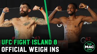 UFC Fight Island 8: Official Weigh-Ins Main Card