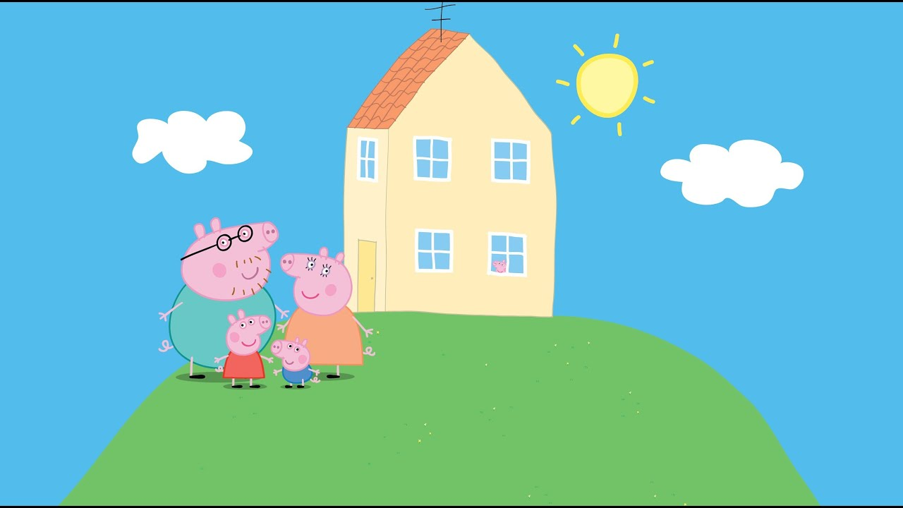 Family home to Peppa Pig cleans house - YouTube