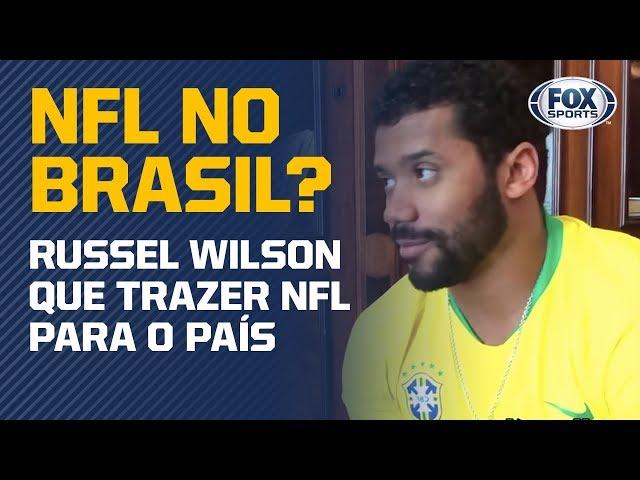 """""""NFL, TEMOS QUE TRAZER UM JOGO PARA O BRASIL"""", DIZ RUSSELL WILSON"""