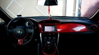 Vinyl Wrapping Interior Trim Scion Fr