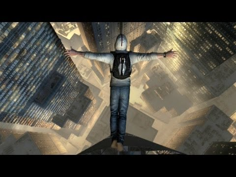 Desmond Leaps Tall Building - Assassin's Creed III Gameplay