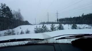 Дизельный Соболь 4х4 по снежной целине! лыжники удивились!!!
