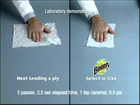 Bounty Paper Towels Rubber Band Ball Commercial