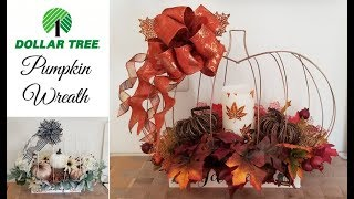 Dollar Tree Pumpkin Wreath DIY