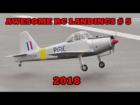 """AWESOME RC LANDINGS"" - WW2 BOMBERS & TRANSPORT ETC # 5 - 2018"