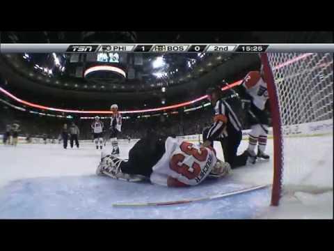 NHL: Brian Boucher Injured in Game 5 Against Bruins 5/10/10