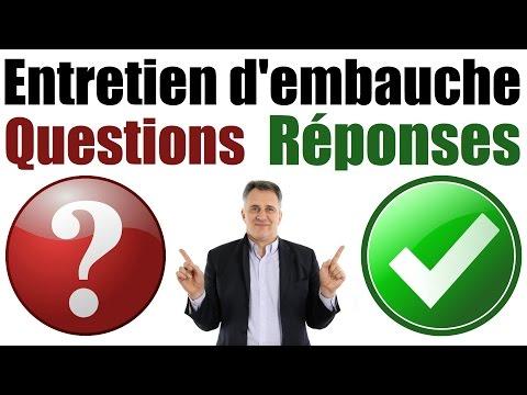 🏆Conseil Emploi : Entretien d'embauche Questions et Réponses exemples