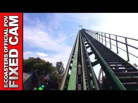 Goliath Walibi Holland - Roller Coaster POV On Ride Mega Coaster Intamin (Theme Park Netherlands)