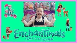 UNBOXING ENCHANTIMALS DOLLS AND PLAYSETS