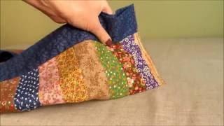 Como fazer um trilho de mesa em patchwork colorido e fácil