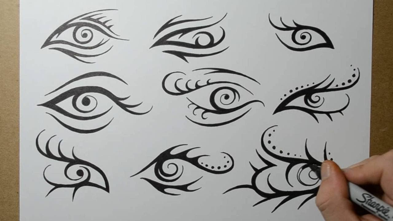 d66008bfb6b95 Tribal Eye Tattoo Designs - Sketching Ideas - YouTube