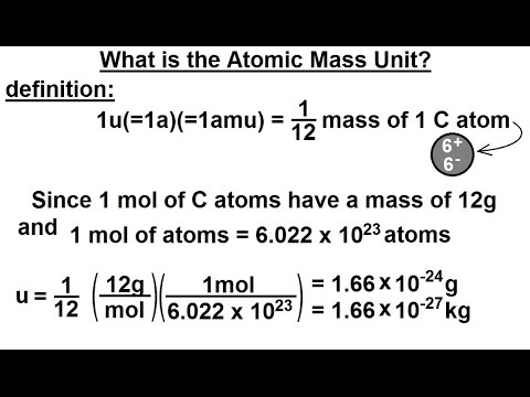 Physics - Mechanics: Ch. 0.5: Standard Units (41 of 41) What is the Atomic Mass Unit?