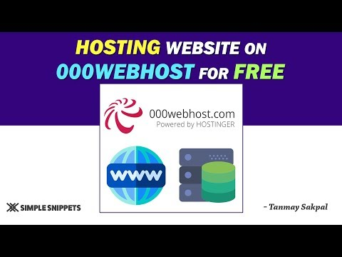 Hosting Website on 000webhost (for FREE) & making it Live | Tutorial – 19
